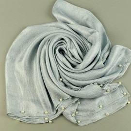 Ericdress Dutch Linen Pearl Inaly Silk Scarf for Women