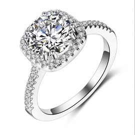 Ericdress S925 Sterling Silver Micro Zircon Women's Ring