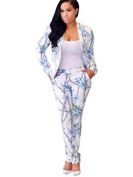 Ericdress Floral Print Women Suits