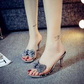 Ericdress Flip Flop Rhinestone Stiletto Mules Shoes