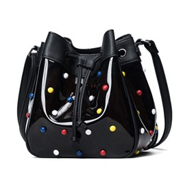 Ericdress Fashion Colored Rivets Bucket Crossbody Bag