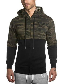 Ericdress Camouflage Patchwork Zipper Slim Men's Leisure Jacket