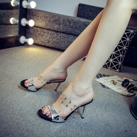 Ericdress Slip-on Patchwork Stiletto Maultiere Schuhe