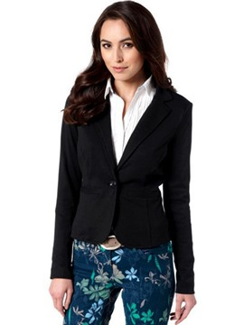 Ericdress Notched Lapel Slim One Button Blazer