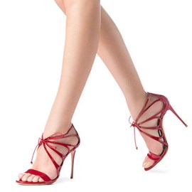 Ericdress offene toe hohle plain stiletto sandalen
