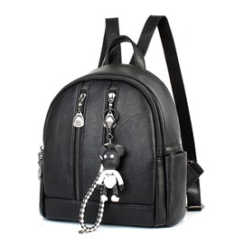 Ericdress Double Zipper Design Backpack