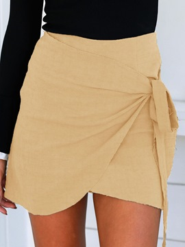 Ericdress Asymmetric Lace-Up Mini Skirt