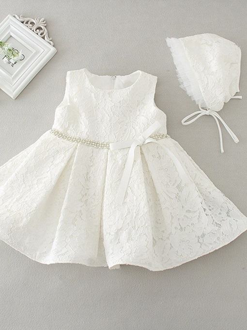 Ericdress Lace A Line Jewel Christening Dress