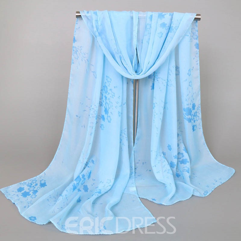 Ericdress Chiffon Floral Printed Women's Scarf