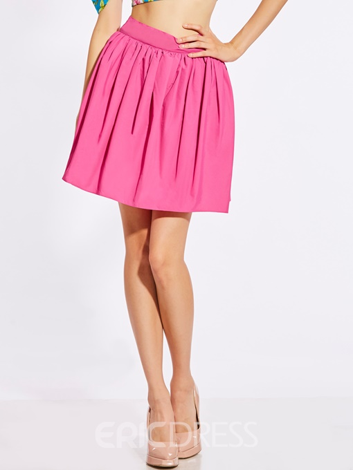 High-Waist Plain Ball Gown Women's Skirt