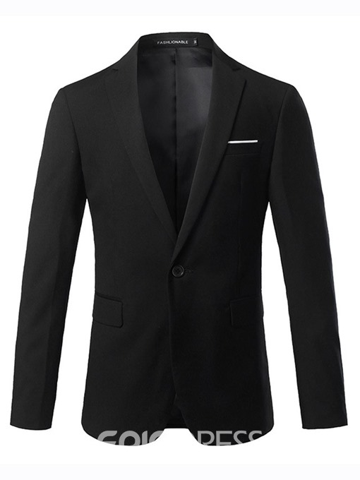 Ericdress One Button Plain Slim Men's Blazer