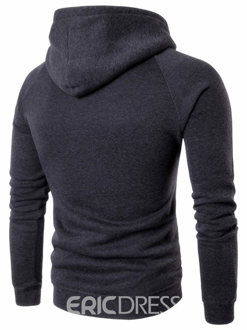 Ericdress Half Zip Pullover Color Block Patched Casual Men's Hoodie