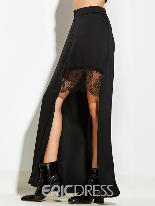 Ericdress Asymmetrical Lace Patchwork Women's Skirt