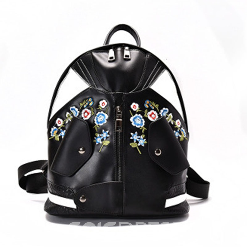Personality Embroidery Mini Backpack