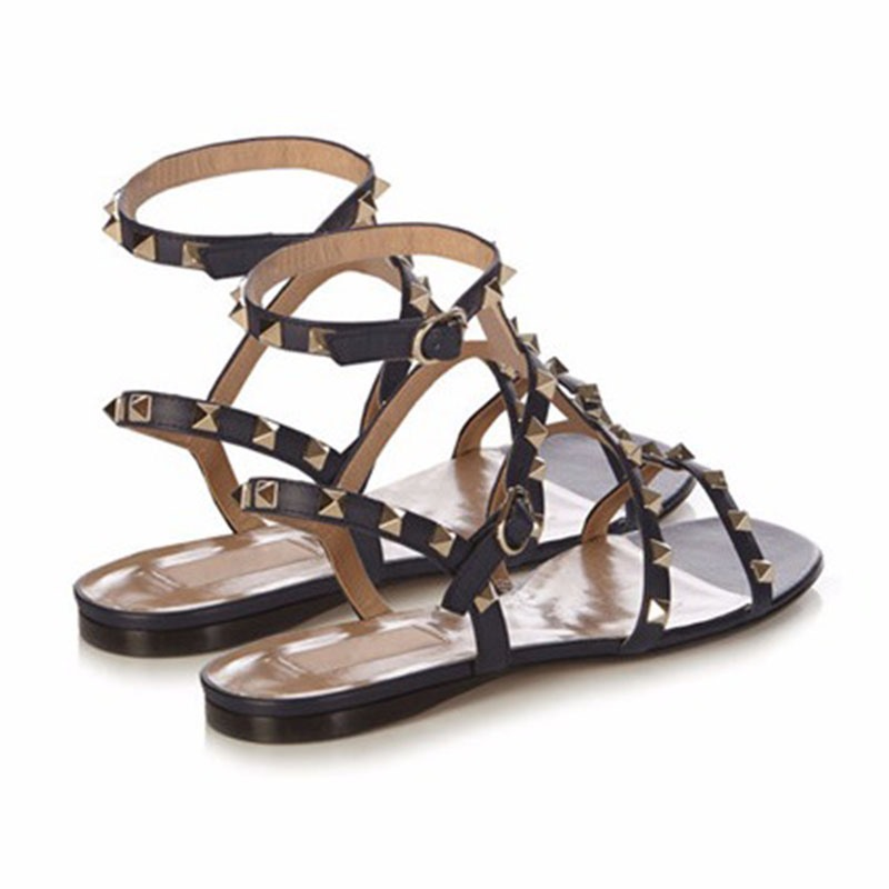 Ericdress Open Toe Strappy Flat Sandals