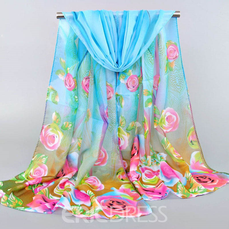Ericdress All Match Chiffon Printed Women's Scarf