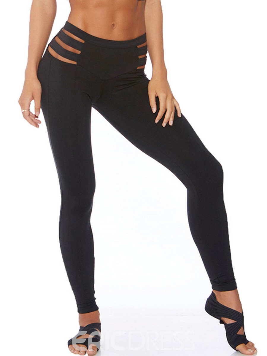 Ericdress High-Waist Hollow Leggings Pants