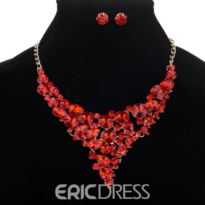 Ericdress Colored Gem Rhinestone Jewelry Set for Women
