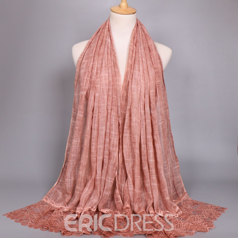 Ericdress Whole Colored Rose Lace Scarf for Women