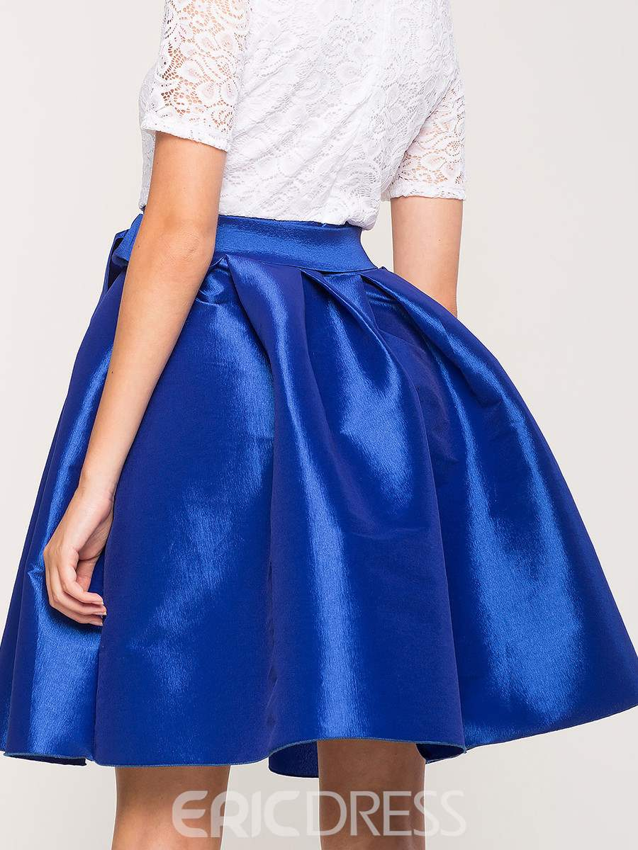 Ball Gown Lace-Up Knee-Length Skirts