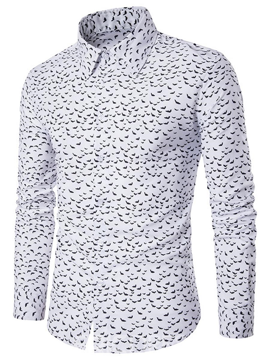 Ericdress Stylish Long Sleeve Floral Men's Shirt