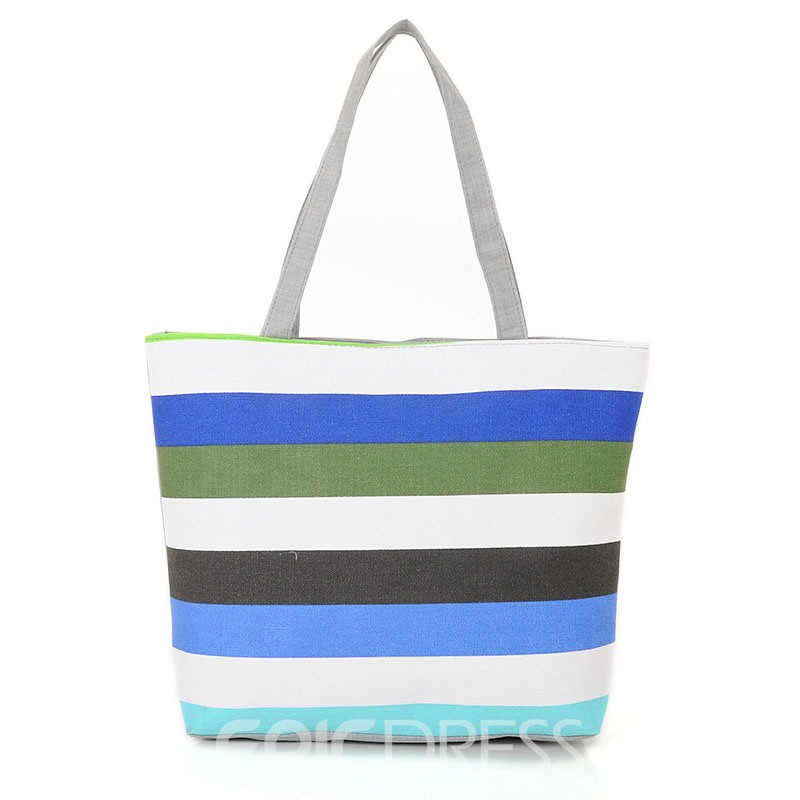 Ericdress Casual Stripe Canvas Handbag