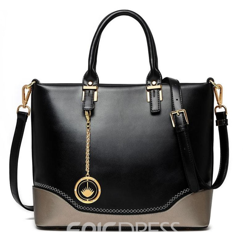 Ericdress Retro Color Block Women Handbag
