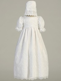 Ericdress Lace Jewel A Line Applqiues Christening Dress