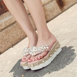 Ericdress Rhinestone Slip-On Plain Mules Shoes