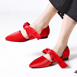 Ericdress Pointed Toe Lace-Up Plain Women's Pumps