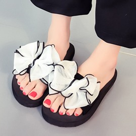 Ericdress Flip Flop Color Block Mules Shoes