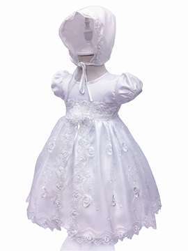 Ericdress Lace Ball Gown Short Sleeves Christening Gown