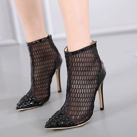Ericdress Fashionable Hollow Ankle Boots with Rivet