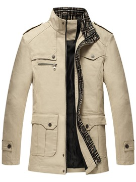 Ericdress Stand Collar Zipper Slim Smart Casual Men's Jacket