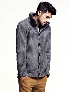 Ericdress Plain Single-Breasted Men's Knitwear