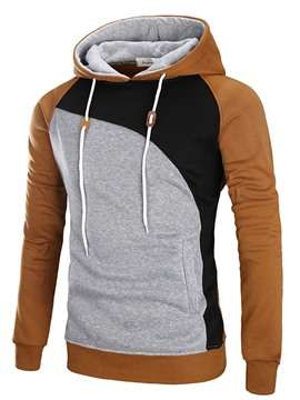 Ericdress Patchwork Vogue Slim Men's Hoodie