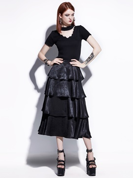 Standard-Waist Layered Skirts