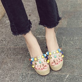 Ericdress Flip Flop Candy Color Mules Shoes