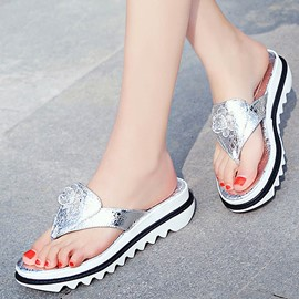 Ericdress Rhinestone Plain Platform Mules Shoes