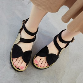 Ericdress Strappy Open Toe Flat Sandals