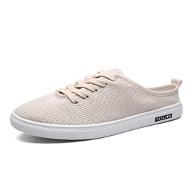 Ericdress Lace-Up Plain Canvas Men's Casual Shoes