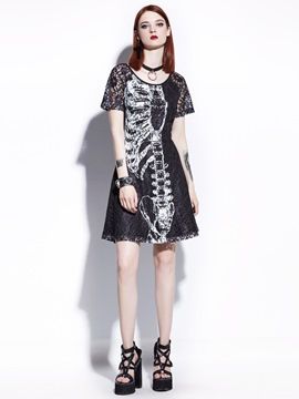 Ericdress Short Sleeve Short Sleeve A Line Dress