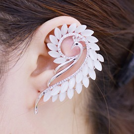Ericdress Czech Stone Phoenix-Shaped Anti Allergy Earring Cuff