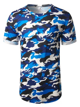 Ericdress Camouflage Print Casual Men's T-Shirt