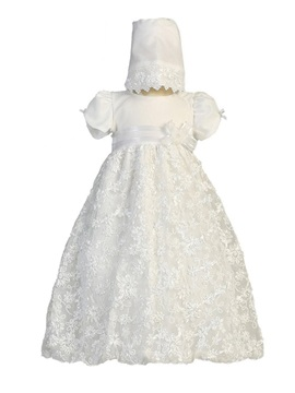 Ericdress Lace A Line Short Sleeves Christening Dress