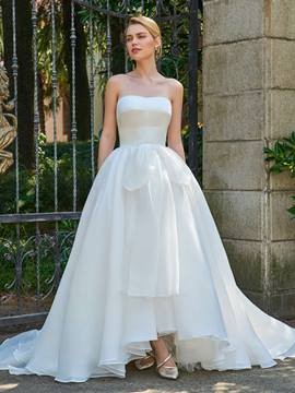 Ericdress Strapless Ball Gown Asymmetry Wedding Dress