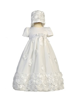 Ericdress Jewel A Line Short Sleeves Appliques Christening Dress