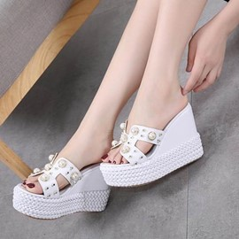 Ericdress Flip Flop Rivet Mules Shoes with Beads