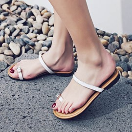 Ericdress Toe Ring Plain Mules Shoes