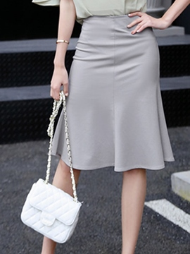 Ericdress Knee-Length Pleated Usual Skirts